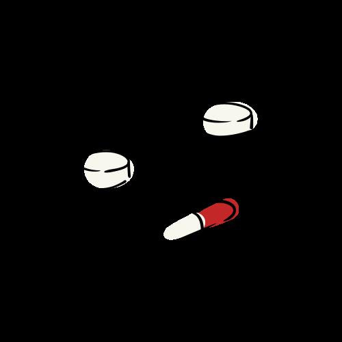 薬の絵のフリー素材