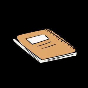 メモ帳の絵のフリー素材