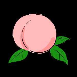 桃のイラストのフリー素材