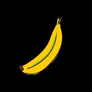 バナナのイラストのフリー素材