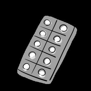 錠剤のイラストのフリー素材