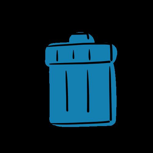 ゴミ箱のイラストのフリー素材