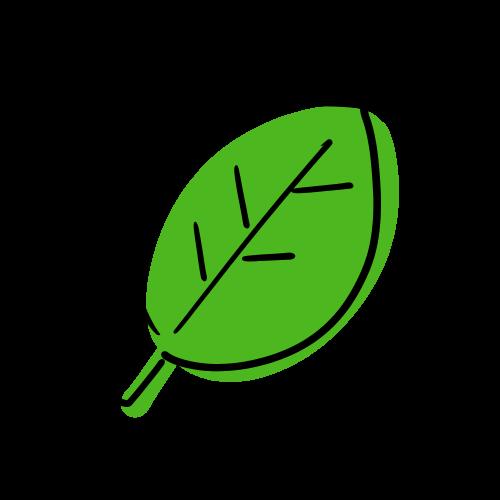 葉の無料イラスト素材