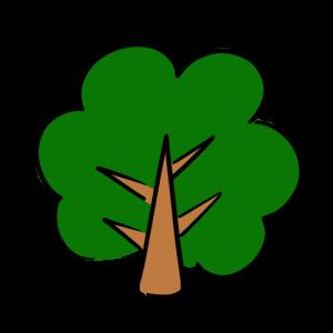 大きな木の無料イラスト素材