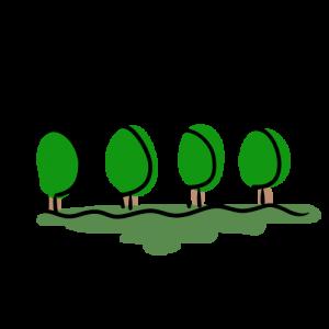 並木の無料イラスト素材