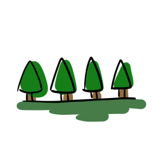 並木のフリーイラスト素材