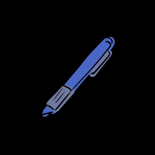 ボールペンのフリーイラスト素材