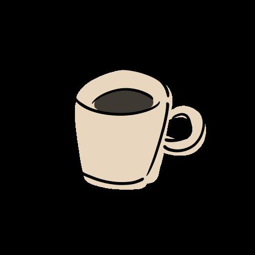 コーヒーのフリーイラスト素材