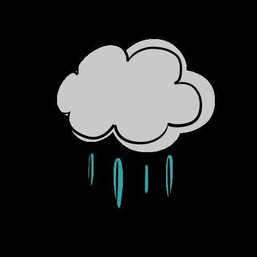 雨雲のフリーイラスト素材